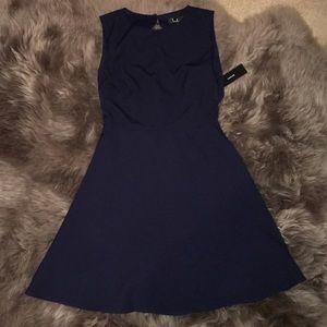 Navy Backless Dress